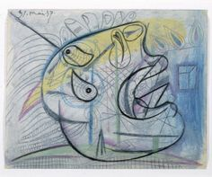 Cabeza llorando (III). Dibujo preparatorio para «Guernica»