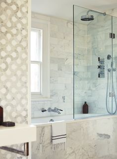 Logic bath with Empire tap and shower (High Society and East Hampton tiles)