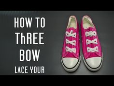 How to make Three Bows lace your shoes - YouTube