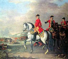 El rey Jorge II de Gran Bretaña dirige al ejército inglés en la batalla de Dottingen el 27 de Junio 1743, siendo el último monarca británico en dirigir a sus tropas en combate.  Más en www.elgrancapitan.org/foro