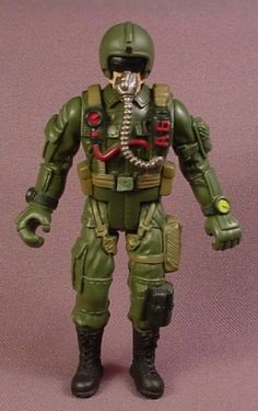 Chap Mei Captain Red-A6 Pilot Action Figure, 3 7/8 Inches Tall, Soldier Force Series, G.I. Joe