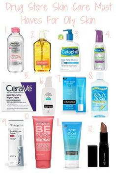 Drugstore Skincare For Oily Skin Oily SkinYou can find Best makeup for oily skin and more on our website.Drugstore Skincare For Oily Skin Oily Skin Skincare For Oily Skin, Drugstore Skincare, Best Skincare Products, Oily Skin Care, Skin Care Regimen, Anti Aging Skin Care, Natural Skin Care, Moisturizer For Oily Skin, Oily Skin Makeup
