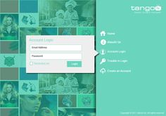 TangoFx Login and Landing Page Redesign Concept on Behance
