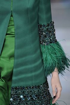 Dress Green Sequin Haute Couture Ideas For 2019 Blog Couture, Couture Mode, Couture Details, Fashion Details, Couture Fashion, Trend Fashion, Gypsy Fashion, High Fashion, Fashion Show