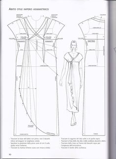 Draped dress pattern draft