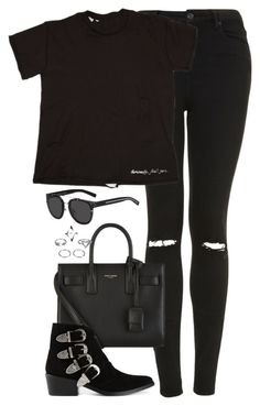 """""""Untitled #4791"""" by eleanorsclosettt ❤ liked on Polyvore featuring Topshop, Yves Saint Laurent, Toga and Christian Dior"""