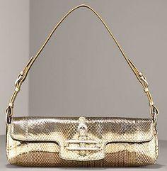 Jimmy Choo metallic snakeskin evening bag