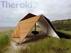 Eco-Friendly Living: The Perfect Beach Tent Temporary Architecture, Origami Architecture, Green Architecture, Architecture Design, Architecture Student, Concept Architecture, Shelter Design, Shade Structure, Timber Structure