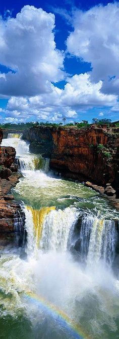 Meio Ambiente #cascata #arco-íris #natureza #Austrália