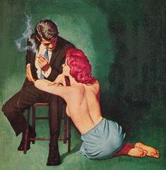 Vintage pulp art ... #pulp #noir
