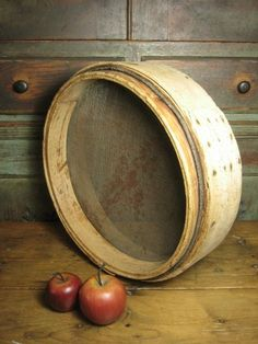 Grandpa's Early Old Thick Walled Primitive Bentwood Grain Sieve