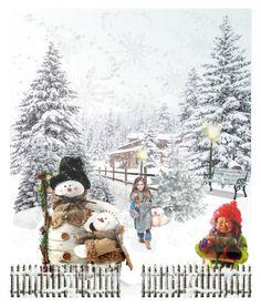 """Winter Wonderland"" by wannanna ❤ liked on Polyvore featuring art, Winter, Wonderland, snow and beautifultimeoftheyear"
