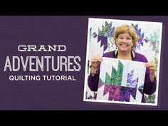"Grand Adventures Quilt Pattern by Missouri Star - Missouri Star Quilt Co. - Missouri Star Quilt Co. - Finished size: 90 X 87 ""Pattern for Squares. From Missouri Star Quilt Company Jenny Doan Tutorials, Msqc Tutorials, Quilting Tutorials, Quilting Tips, Patchwork Quilting, Layer Cake Quilts, Layer Cakes, Missouri Quilt Tutorials, Pinwheel Quilt"