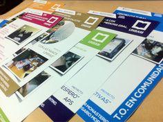 Parte de los últimos trabajos: diseño e impresión de afichetas para la cátedra de #TO #Unsamoficial