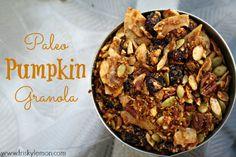 Paleo Pumpkin Granola by Frisky Lemon. #paleo