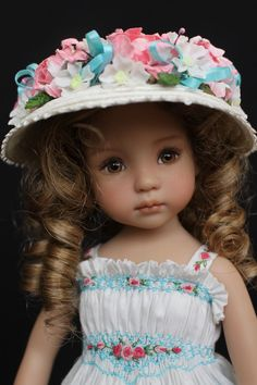 "Smocked & Embroidered Outfit for Dianna Effner's 13"" Little Darling Dolls"