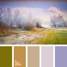 бледный коричневый, лиловый цвет, оливковый, оттенки коричневого, оттенки лаванды, подбор цвета, подбор цветового решения для дома, рыже-коричневый, серо-зеленый, фиолетовый, цвет дерева, цвет лаванды, цветовое решение.