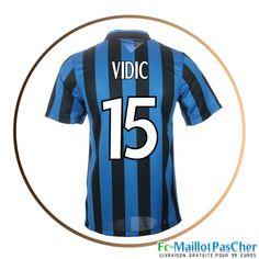 Maillot de foot Inter Milan Bleu et noir VIDIC 15 Domicile 15 2016 2017
