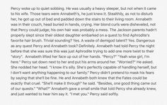 """Percabeth in the future. """"Besides, one good thing came out of our quest (...) I met you."""" This is soo cute. I'm dying! <3"""