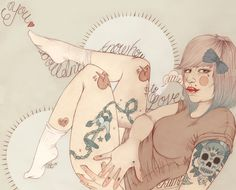 Portfolio 2013 by Liz Clements, via Behance Illustration Artists, Cute Illustration, Liz Clements, But Is It Art, Pre Raphaelite, Pop Surrealism, Figure Drawing, Cool Art, Awesome Art