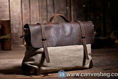 Waxed Canvas Messenger Bag Cross Body Bags