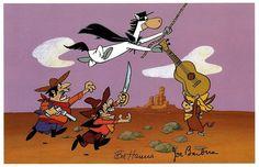 Quick Draw McGraw - EL KABONG Print Hanna Barbera Boba Looey  | eBay