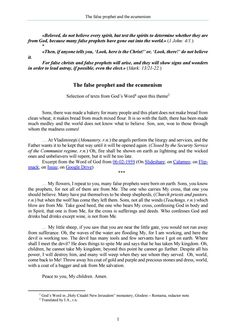 The Word of God about the false prophet and the ecumenism