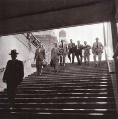 Entrada a la estación de metro Sol 1954