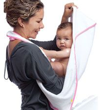 Maamam Aacua Bath Towel  Let's face it: Moms wish they had more than two hands! The maamam bath towel is the ultimate mom multitasker -- it transforms into an apron (to keep you dry), a towel for baby, a baby wrap for infants and a bathrobe for toddlers. $42, maamam.com