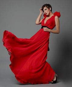 Silk Rose Gown Made to Order by reddoll on Etsy, $495.00  But perhaps in a silvery gray-blue......