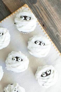 Mummy Cupcakes | Community Post: 17 Insanely Creative Cupcakes That Are Guaranteed To Win Halloween