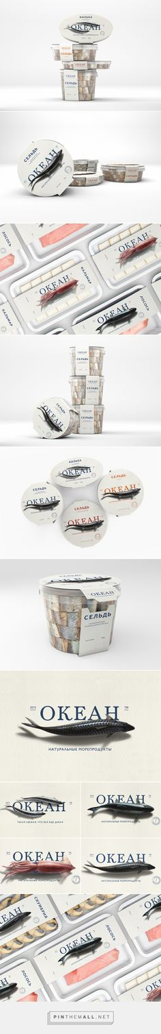 Branding, graphic design and packaging for Ocean on Behance curated by Packaging Diva PD. A brand of fresh seafood, which gives priority not to artificially farm-raised, but to wild fish.