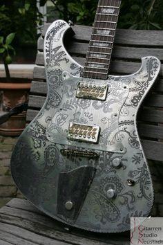 2010 Nick Page Guitars Eiserner Baron... like the pickup covers