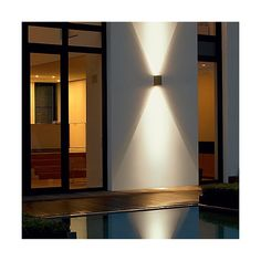 Modern Exterior Lighting, Modern Lighting, Lighting Design, Lighting Ideas, Outdoor Wall Lighting, Landscape Lighting, Outdoor Walls, Modern Outdoor Sconces, Outdoor Wall Sconce