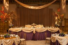 Regally set by Renaissance Weddings & Events http://weddingshows.com