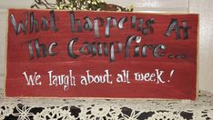 camp sign funny What happens at the by handmadebysandyo on Etsy, $20.00