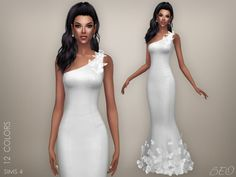 Butterflies - wedding dress for The Sims 4 by BEO (1)