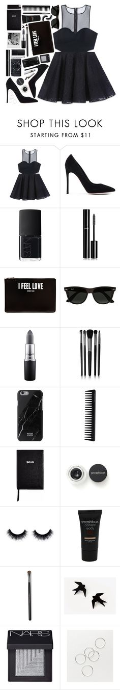 """""""#922 Rosie"""" by blueberrylexie ❤ liked on Polyvore featuring Bebe, Gianvito Rossi, NARS Cosmetics, Chanel, Givenchy, Ray-Ban, MAC Cosmetics, Illamasqua, Native Union and GHD"""
