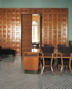 Reading room by Gio Ponti at the Padua University: WOI Nov 2011. Source / Pinterest