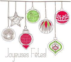 Afficher Limage Dorigine More Information Five Cute Retro Christmas Ornaments