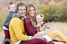Great options or colors that coordinate well with each other and for fall family portraits… Family Picture Colors, Fall Family Pictures, Family Picture Poses, Family Picture Outfits, Family Photo Sessions, Young Family Photos, Family Photoshoot Ideas, Family Pictures Outside, Fall Pics