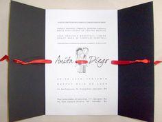 Convite de casamento criativo e simples ao mesmo tempo. http://convitesdecasamento.blog.br/