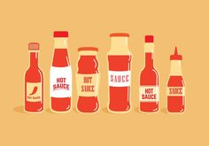 Hot Sauce Bottle Vectors