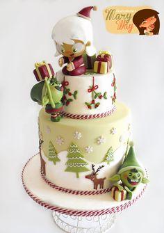 EDITOR'S CHOICE (11/10/2013) Cake Christmas by Maryway Ilustratartas View details here: http://cakesdecor.com/cakes/96174