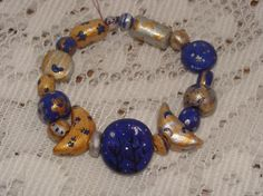 *FREE SHIPPING* Hand-crafted Celestial Moon & Stars Bracelet