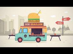 Tutoriel Illustrator en vidéo où nous allons apprendre à créer une illustration vectorielle * Food Truck * à partir d'un dessin. Animate Css, Home Icon, Art Graphique, Art Tutorials, Digital Illustration, Typography Design, Adobe Illustrator, Web Design, Creations