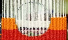 I've finally reached the upper section of my Introduction to Tapestry class sampler. This is the section that contains the big, colorful circle. We start by using a template and permanent mar…