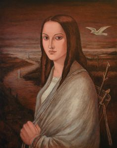 Flight of the bird 2014, Oil on canvas - 50x40cm by Javad Azarmehr