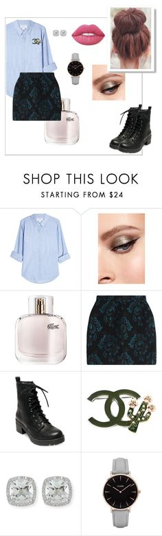 """""""Untitled #75"""" by alinakraynya ❤ liked on Polyvore featuring Velvet, Lacoste, Roberto Cavalli, Madden Girl, Chanel, Frederic Sage, CLUSE and Lime Crime"""