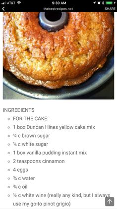 Cake with carrot and ricotta - Clean Eating Snacks Cake Mix Desserts, Just Desserts, Delicious Desserts, Yummy Food, Dump Cake Recipes, Baking Recipes, Dessert Recipes, Recipe For Crack, Crack Cake